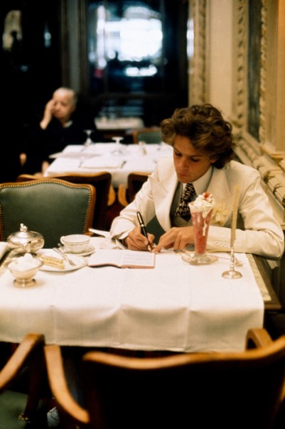 FRANCE. Paris. 1972. Francois-Marie BANIER at Angelina's Tea Shop.